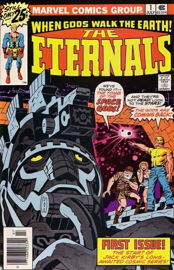 Portada de The Eternals #1 (julio de 1976). Arte por Jack Kirby (1917-1994). Imagen: Comic Vine