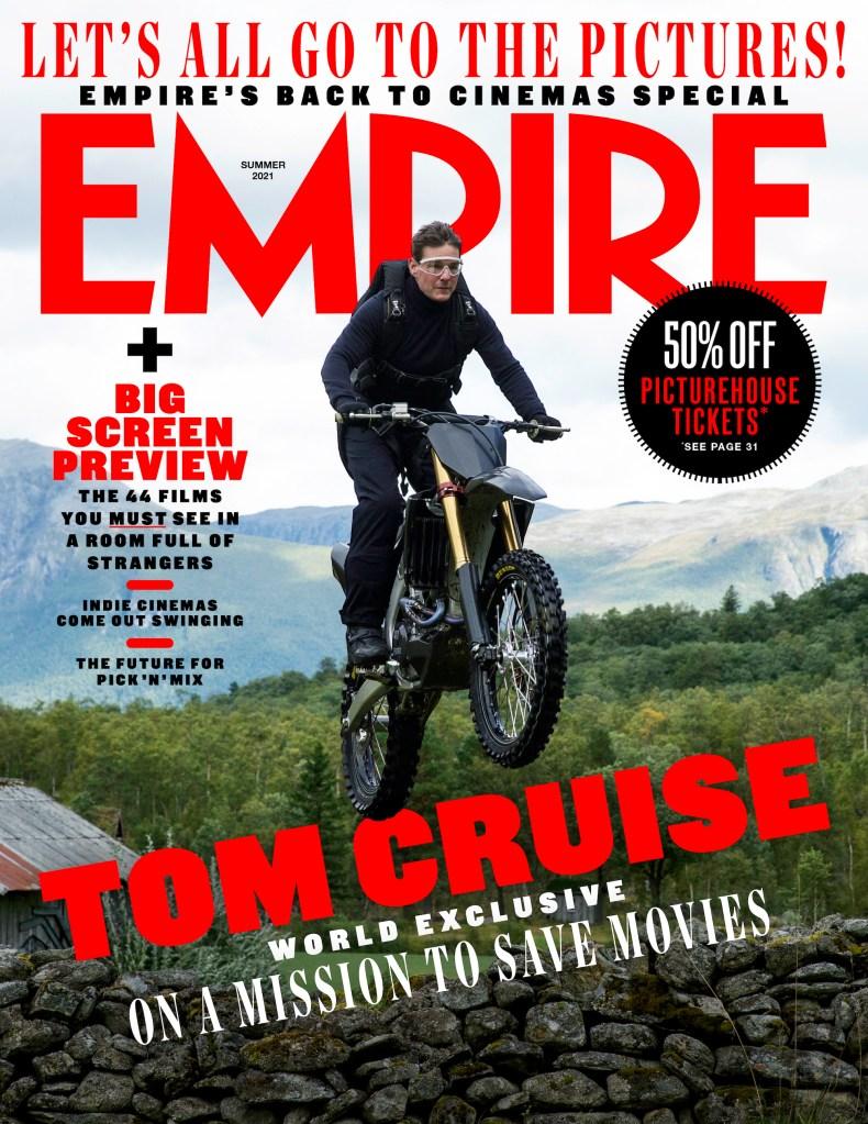 Ethan Hunt (Tom Cruise) en la portada para puestos de periódicos de Empire (verano de 2021). Imagen: Empire Magazine Twitter (@empiremagazine).