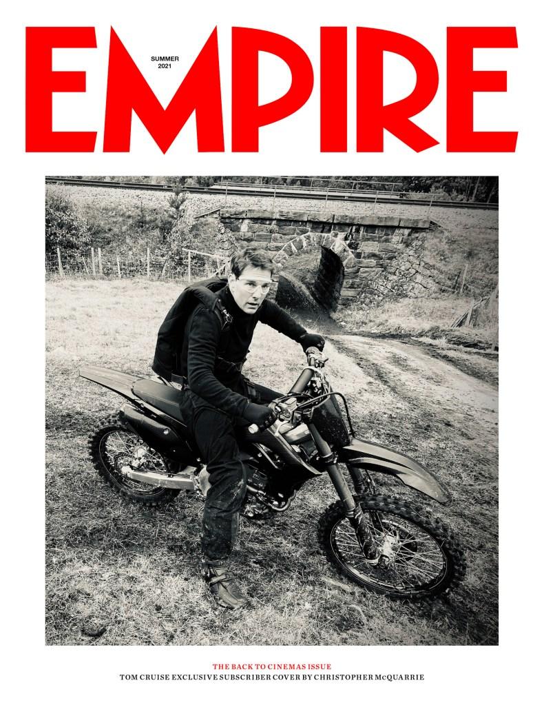 Ethan Hunt (Tom Cruise) en la portada para subscriptores de Empire (verano de 2021). Imagen: Empire Magazine Twitter (@empiremagazine).