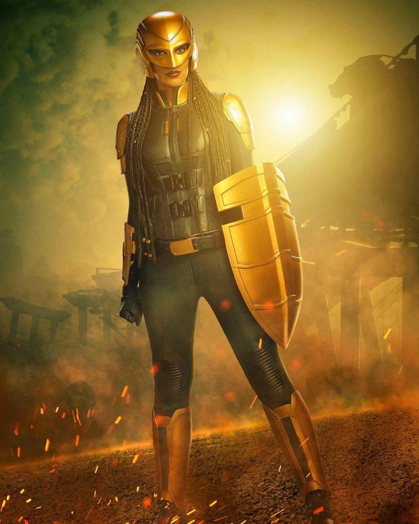 Guardian/Kelly Olsen (Azie Tesfai) en la temporada 6 de Supergirl. Imagen: Azie Tesfai Twitter (@AzieTesfai).