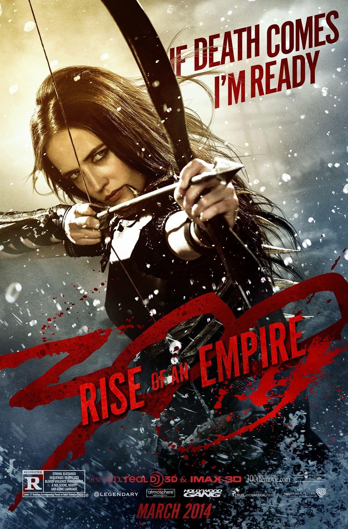 Artemisia (Eva Green) en un póster de 300: Rise of an Empire  (2014). Imagen: pinterest.com