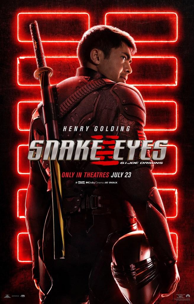 Snake Eyes (Henry Golding) en un póster de Snake Eyes: G.I. Joe Origins (2021). Imagen: impawards.com