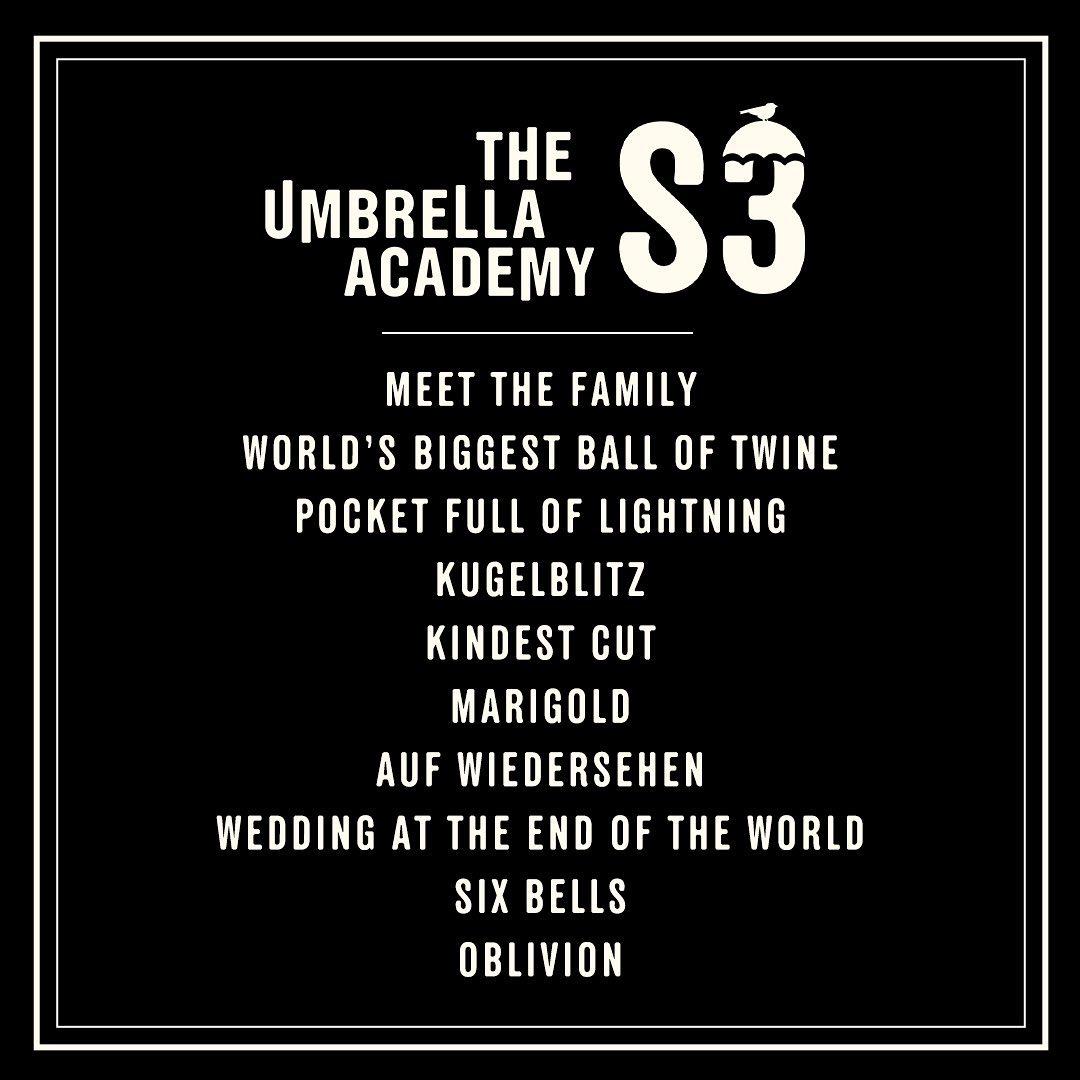 Los episodios para la temporada 3 de The Umbrella Academy. Imagen: The Umbrella Academy Instagram (@umbrellaacad).