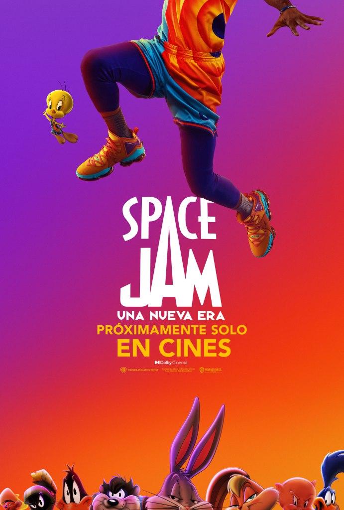 Póster promocional en español de Space Jam: A New Legacy (2021). Imagen: WB Pictures Latam Twitter (@WBPicturesLatam).