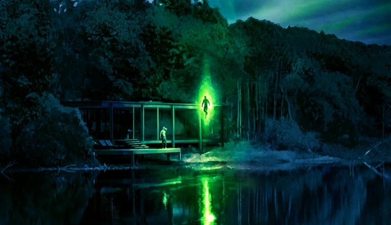 John Stewart/Green Lantern (Wayne T. Carr) y Bruce Wayne/Batman (Ben Affleck) en arte conceptual de Zack Snyder's Justice League (2021). Imagen: thedirect.com