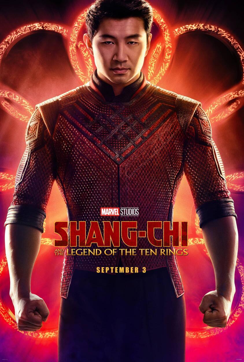 Shang-Chi (Simu Liu) en un póster de Shang-Chi and the Legend of the Ten Rings (2021). Imagen: Marvel.com