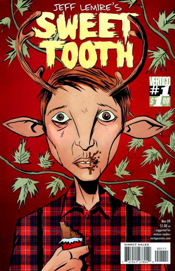 Portada de Sweet Tooth #1 (noviembre de 2009) por Jeff Lemire y José Villarrubia. Imagen: Comic Vine