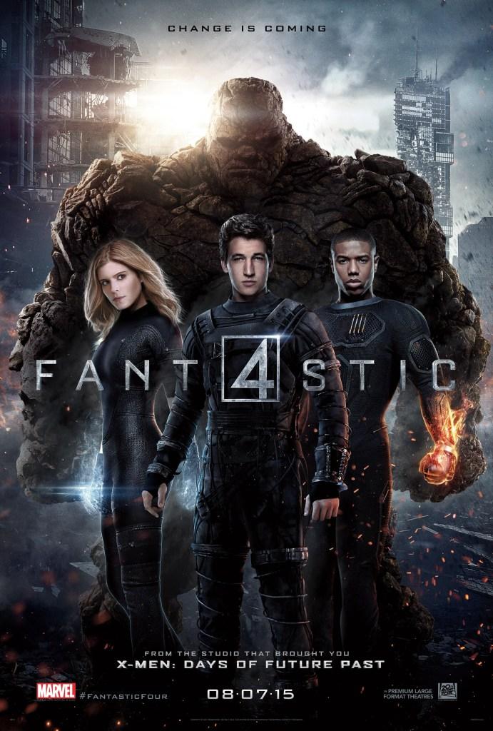 Póster de Fantastic Four (2015). Imagen: impawards.com