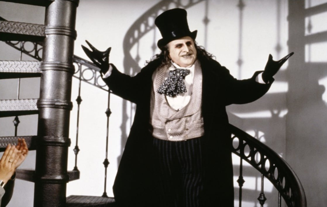 The Penguin/Oswald Cobblepot (Danny DeVito) en Batman Returns (1992). Imagen: listal.com