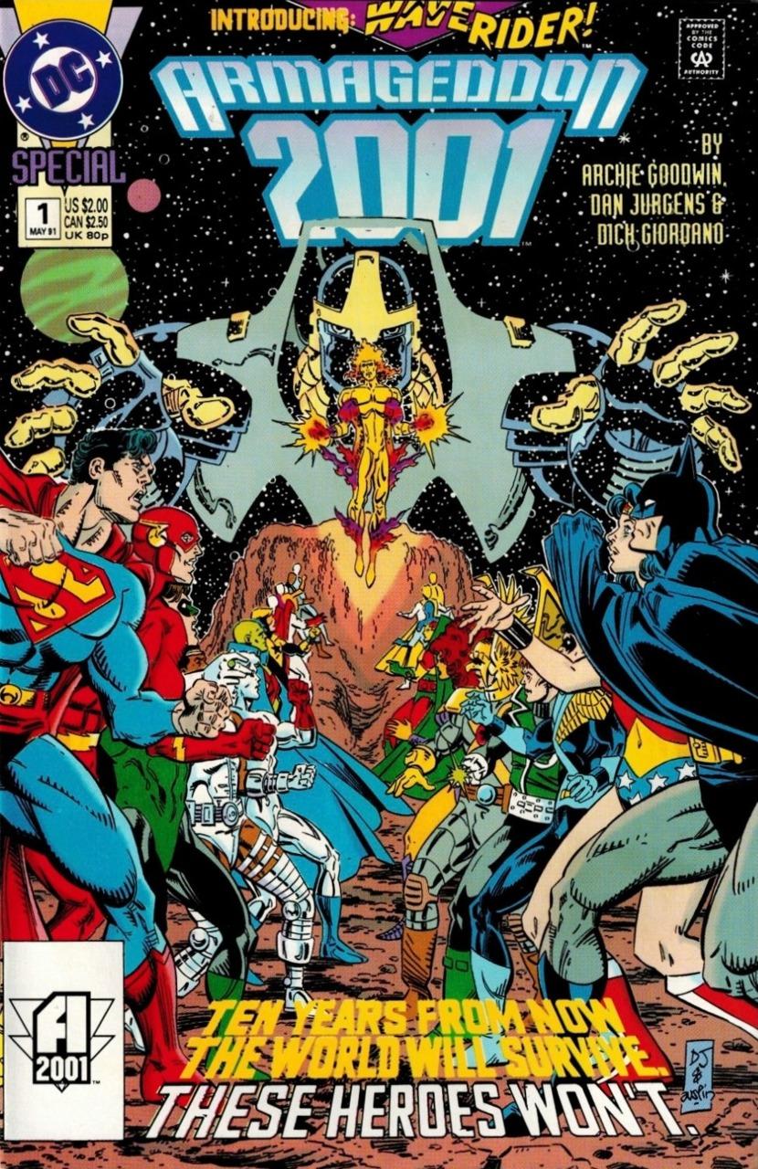 Portada de Armageddon 2001 #1 (mayo de 1991). Arte por Dan Jurgens y Terry Austin. Imagen: Comic Vine