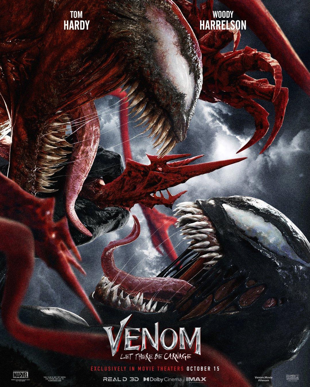 Póster de Venom: Let There Be Carnage (2021). Imagen: #Venom: Let There Be Carnage Twitter (@VenomMovie).