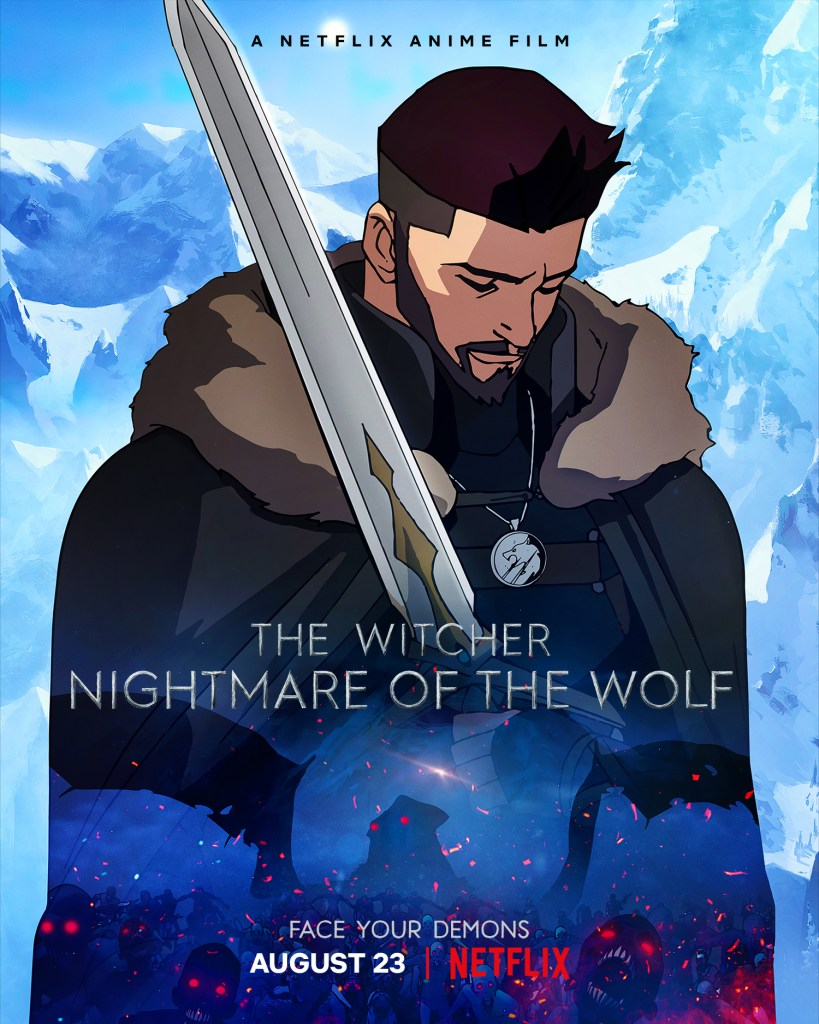 Póster de The Witcher: Nightmare of the Wolf (2021). Imagen: The Witcher Twitter (@witchernetflix).