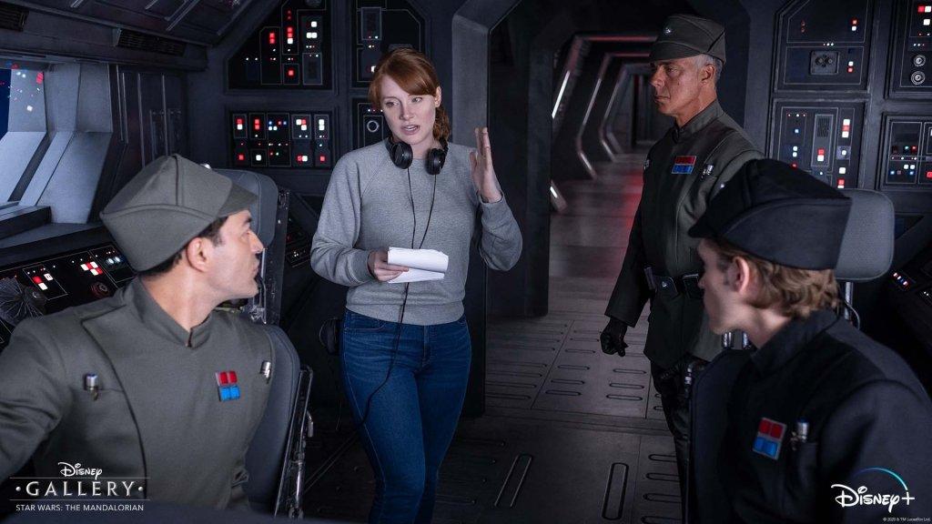 La directora Bryce Dallas Howard en el set de The Mandalorian. Imagen: Bryce Dallas Howard Twitter (@brycedhoward).