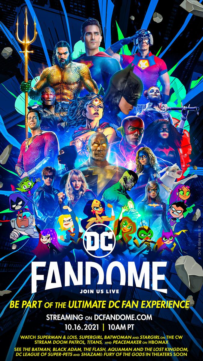 Póster del evento virtual DC FanDome. Imagen: dccomics.com