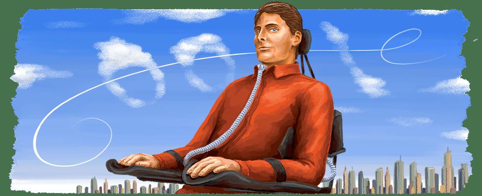 El Doodle dedicado a Christopher Reeve (1952-2004). Imagen: google.com