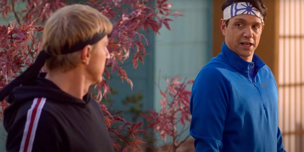 Johnny Lawrence (William Zabka) y Daniel LaRusso (Ralph Macchio) en la temporada 4 de Cobra Kai. Imagen: Netflix