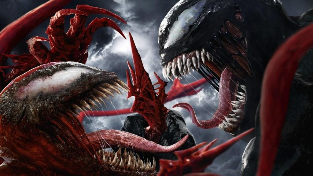 Venom (Tom Hardy) vs. Carnage (Woody Harrelson) en arte promocional de Venom: Let There Be Carnage (2021). Imagen: fanart.tv