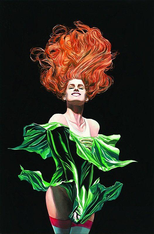 Cyclone/Maxine Hunkel en la portada sin texto de Justice Society of America #3 (abril de 2007). Arte por Alex Ross. Imagen: Alex Ross Twitter (@thealexrossart).
