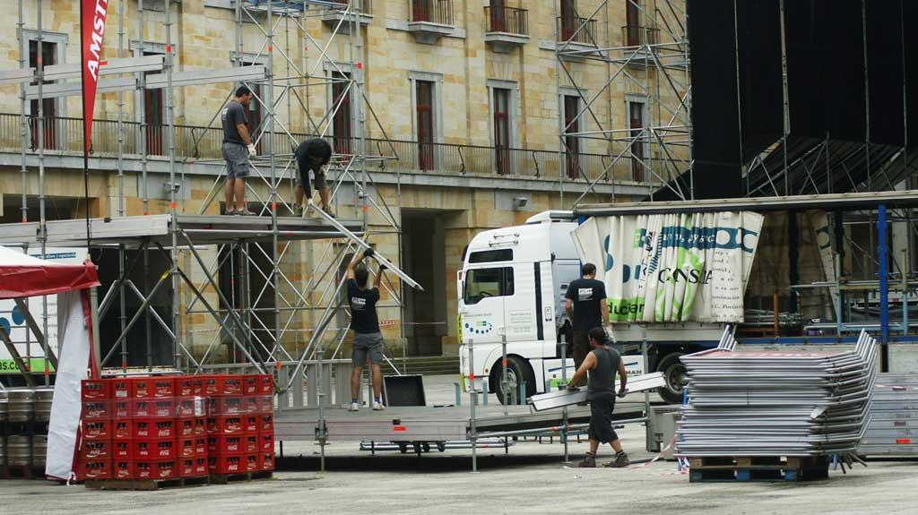 Señalización concierto en Gijón