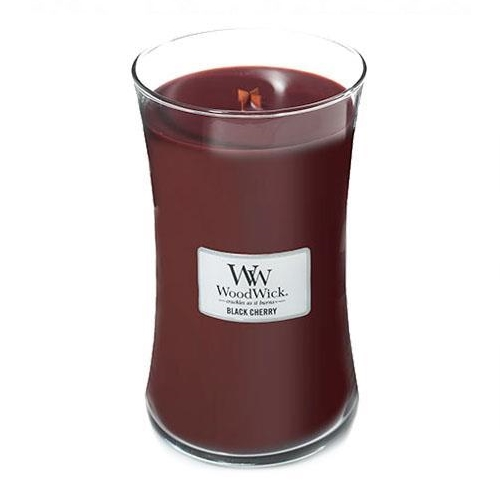WoodWick Geurkaars Black Cherry Large