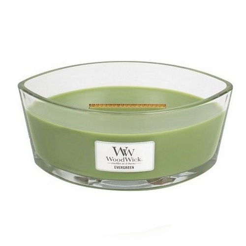WoodWick Geurkaars Evergreen HearthWick Ellipse