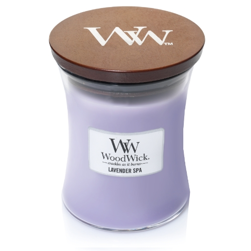 WoodWick Geurkaars Lavender Spa Medium