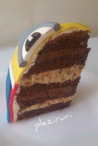 Tort cu kranz si ciocolata-Minion fotbalist