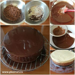 Tort Capricia cu ciocolata migdale si portocale