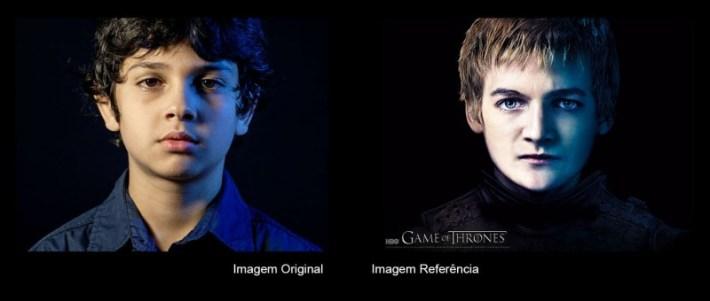 Comparação original
