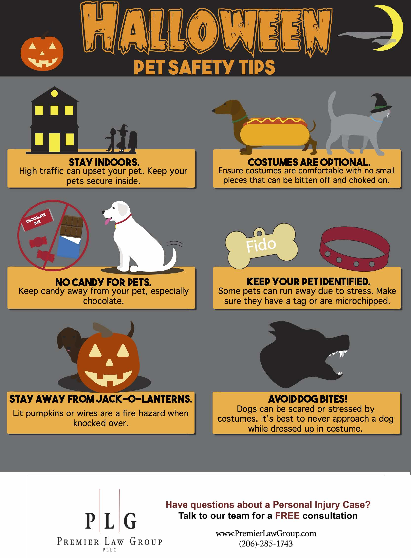 Halloween Pet Safety Seattle Personal Injury Lawyers