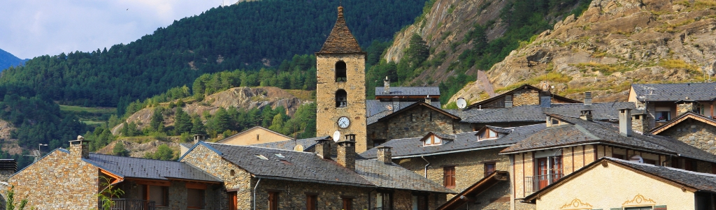 Beautiful town of Ordino in Andorra