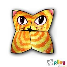 Marionnette Chat Cocotte en papier à imprimer - Les loisirs créatifs Pliay