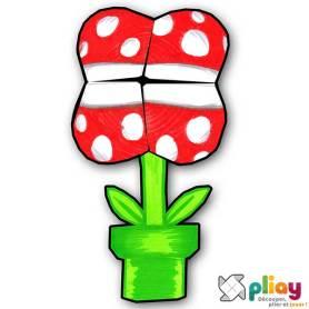 Marionnette Plante Carnivore Cocotte en papier à imprimer - Les loisirs créatifs Pliay