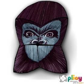 Marionnette Gorille Cocotte en papier à imprimer - Les loisirs créatifs Pliay
