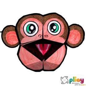 Marionnette Ouistiti Cocotte en papier à imprimer - Les loisirs créatifs Pliay
