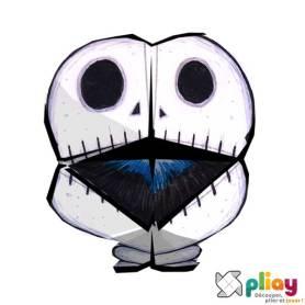 Marionnette Squelette Cocotte en papier à imprimer - Les loisirs créatifs Pliay