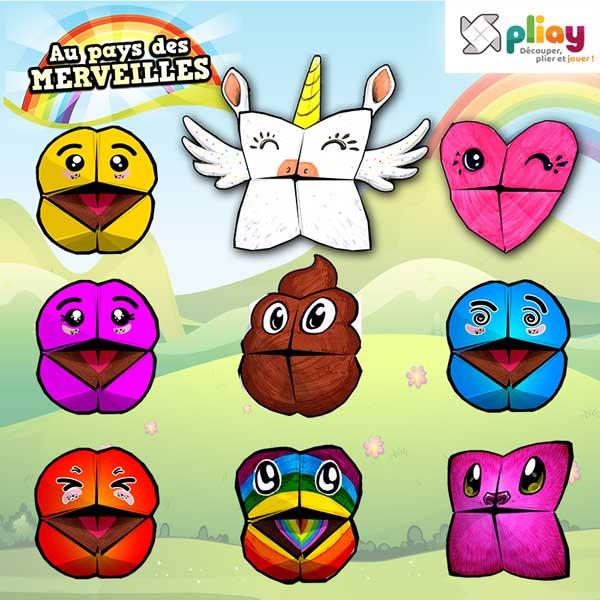 Au Pays Des Merveilles 9 Marionnettes Emoji Licorne Par Pliay