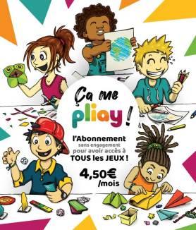 """Abonnement """"ça me Pliay"""" avec accès à tous les jeux créatifs Pliay.fr pour seulement 4,50€/mois"""