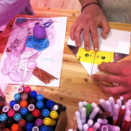Ateliers Papiers avec les ateliers créatifs Pliay - par Nicolas Maurel Art