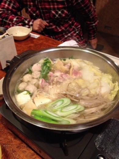 軍鶏鍋醤油味
