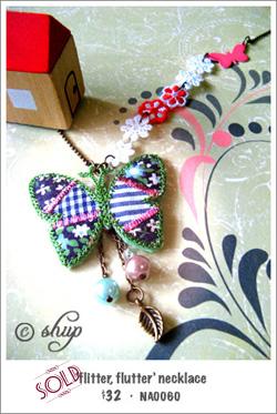 NA0060 - 'flitter, flutter' necklace