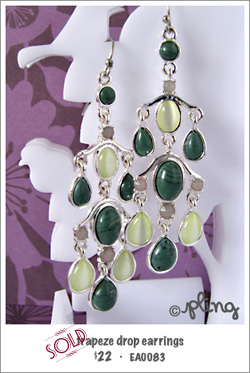 EA0083 - trapeze drop earrings