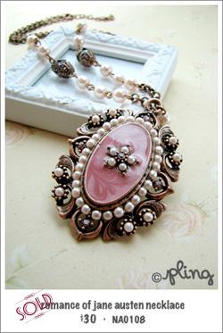 NA0108 - romance of jane austen necklace