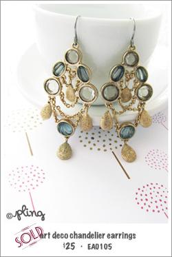 EA0105 - art deco chandelier earrings