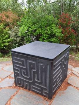 ghibli museum rooftop garden marble inscriptions