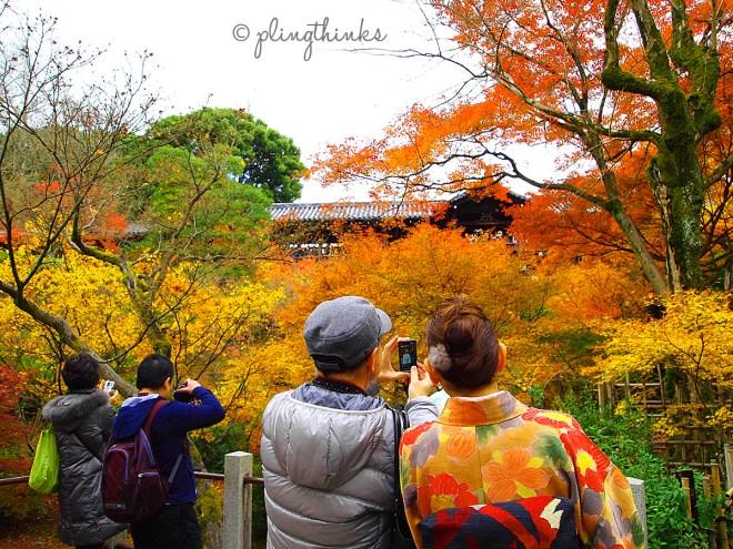 Kimono Autumn Colours - Tofukuji Kyoto
