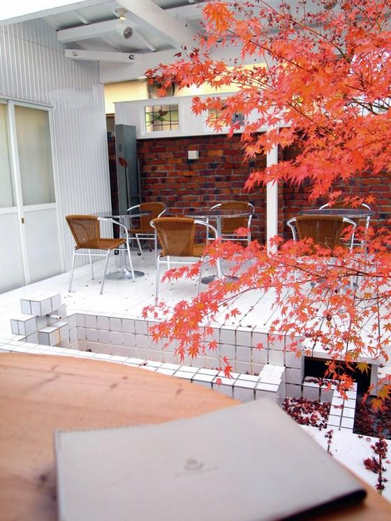 Old bathhouse - Sagano-Yu Cafe in Kyoto Arashiyama