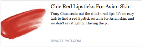 Chic Red Lipsticks for Asian Skin -  Beauty-Pati