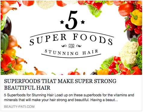 beauty-pati 5 superfoods for stunning hair