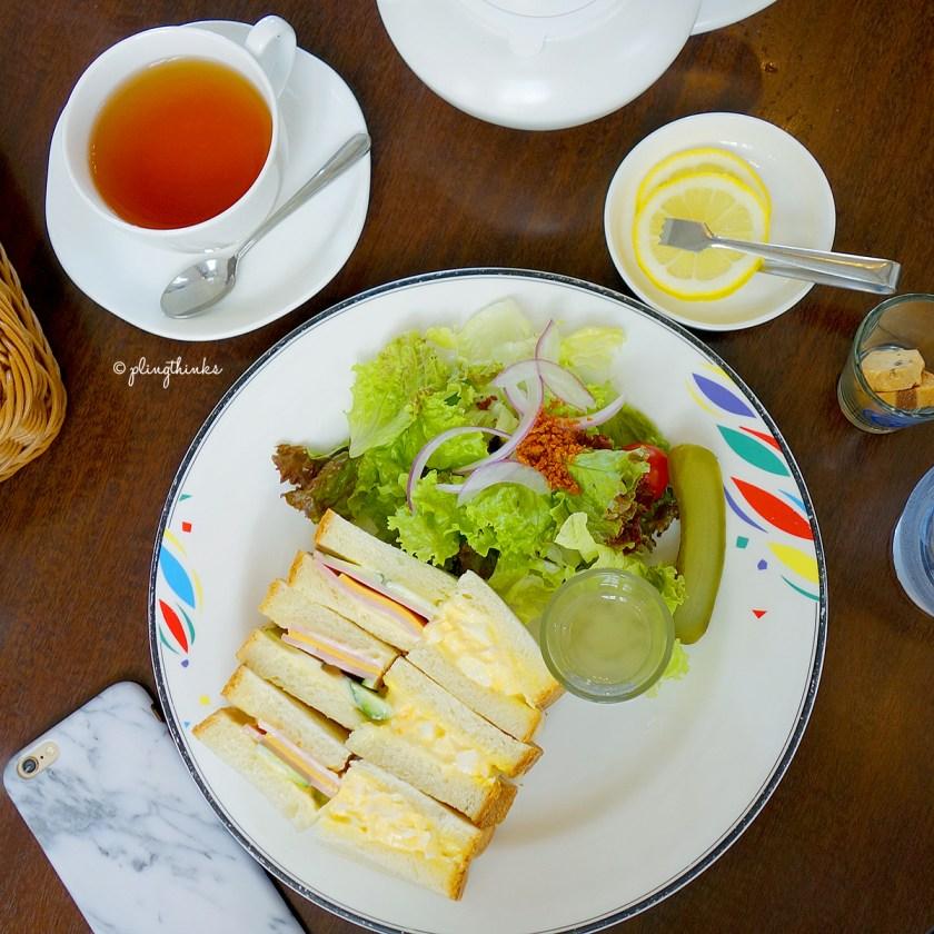 Breakfast Sandwich Set at Cafe Freundlieb - Kobe Cafes Japan